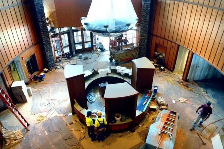 Construction Continues On The Lobby Of The York Hill Student Center At Quinnipiac  University In Hamden Part 90