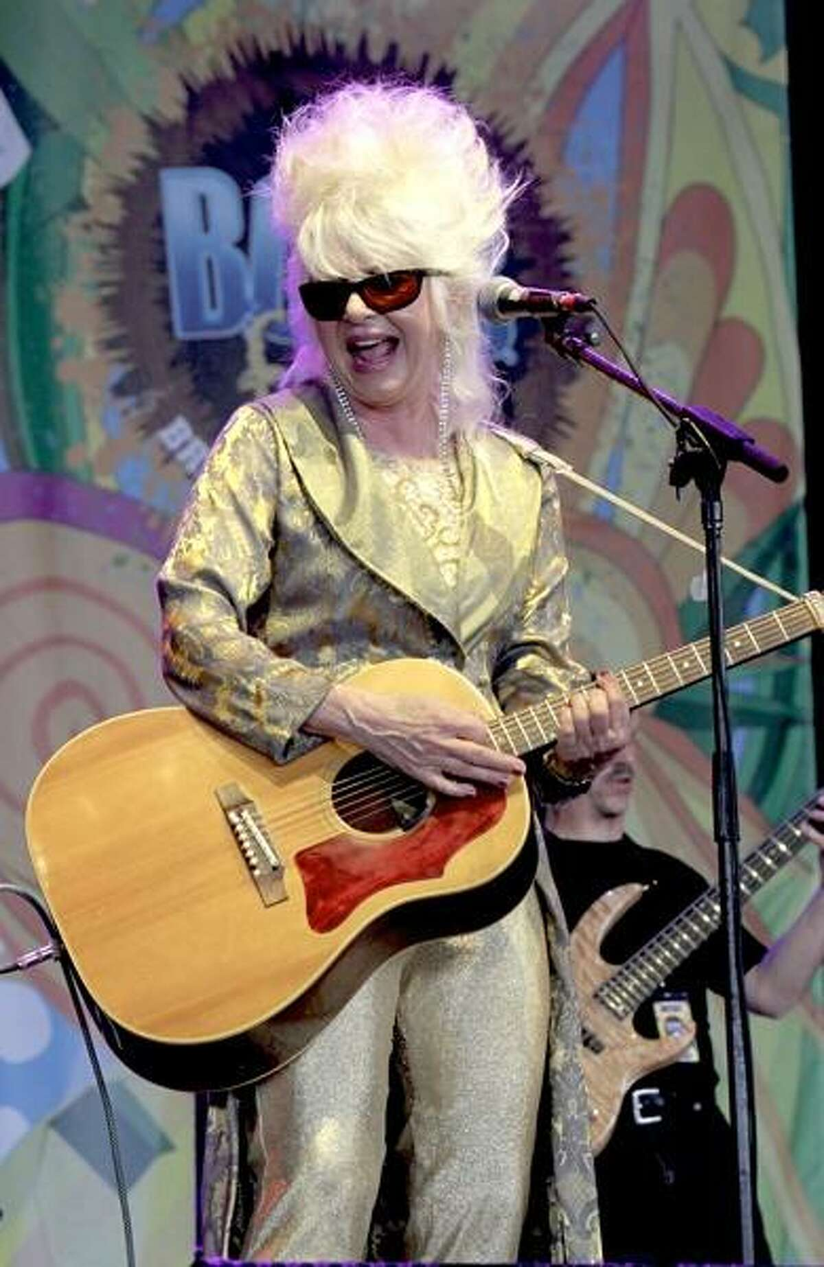 Singer, songwriter & guitarist Christine Ohlman is shown performing on stage during a