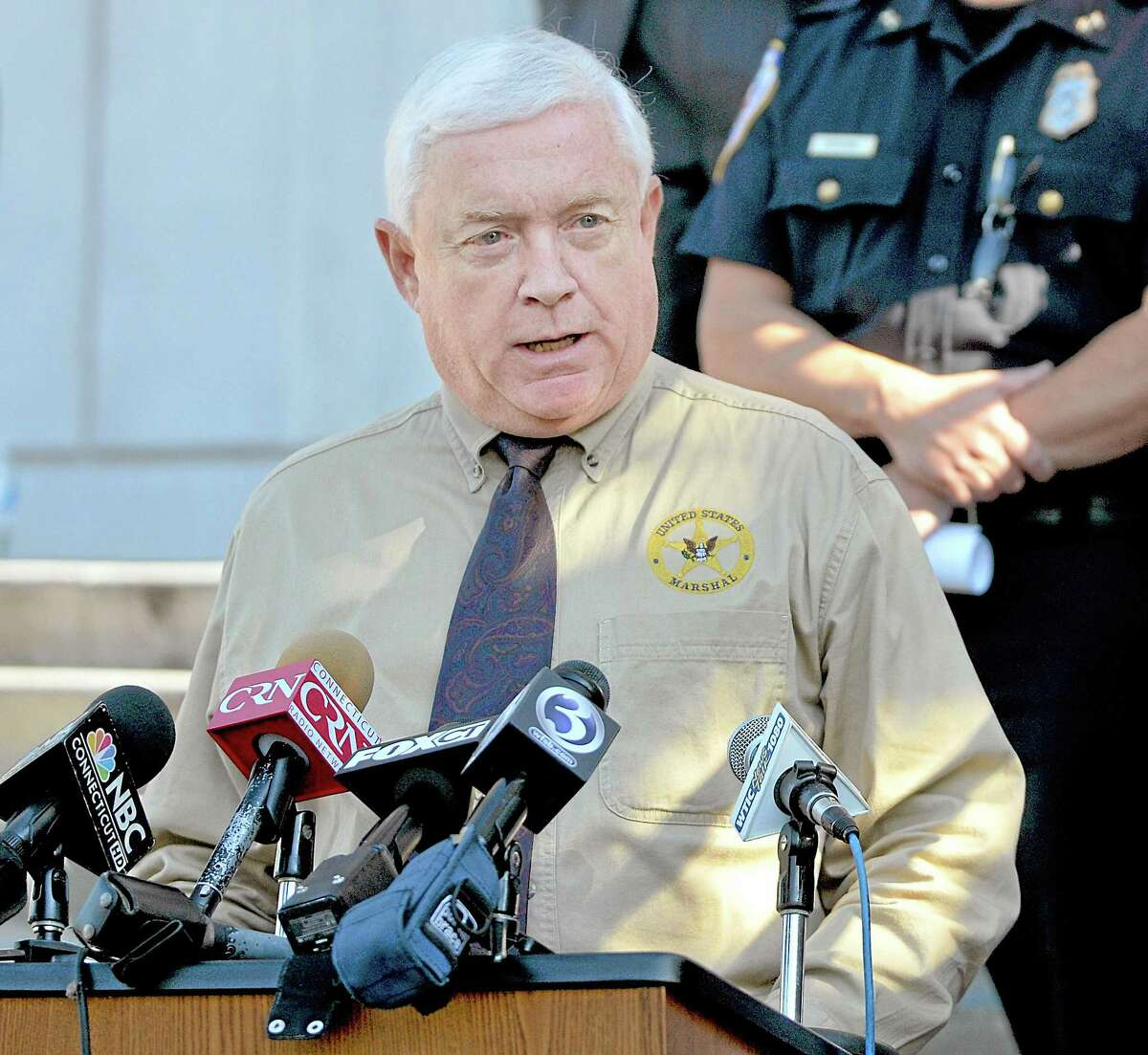 Joseph Faughnan, United States Marshal spoke at a press conference Monday afternoon at Middlesex Superior Court. Faughnan said,