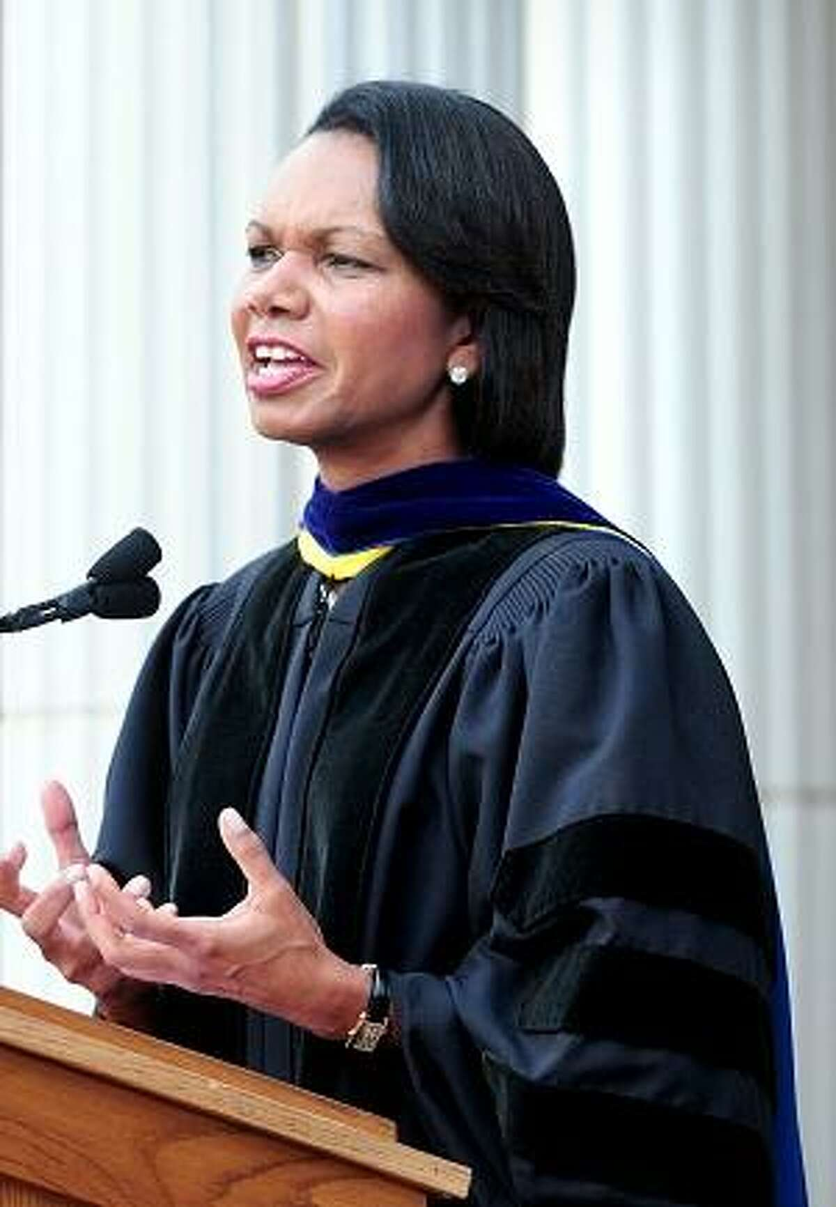 Former Secretary of State Condoleezza Rice speaks to students at Hopkins School in New Haven on 9/27/2012.Photo by Arnold Gold/New haven Register AG0464A
