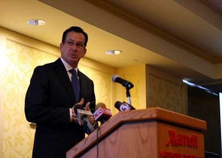 Gov. Dannel P. Malloy announces his long-term care plans at the Hartford Marriott. Christine Stuart/CTNewsJunkie