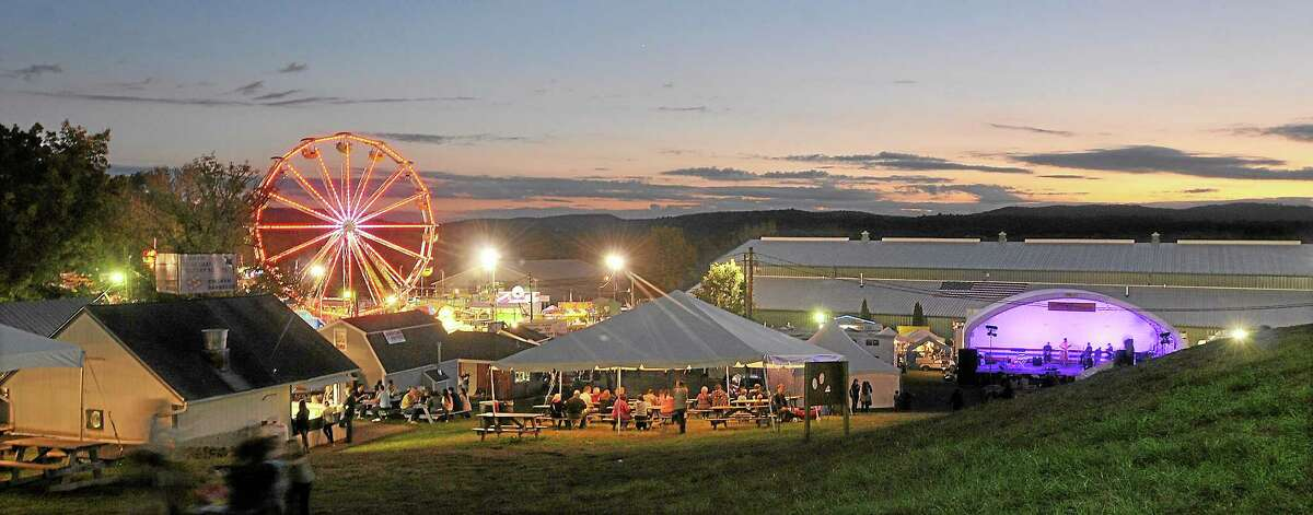 An aerial view of the Durham Fairgrounds on opening night Thursday. Catherine Avalone - The Middletown Press