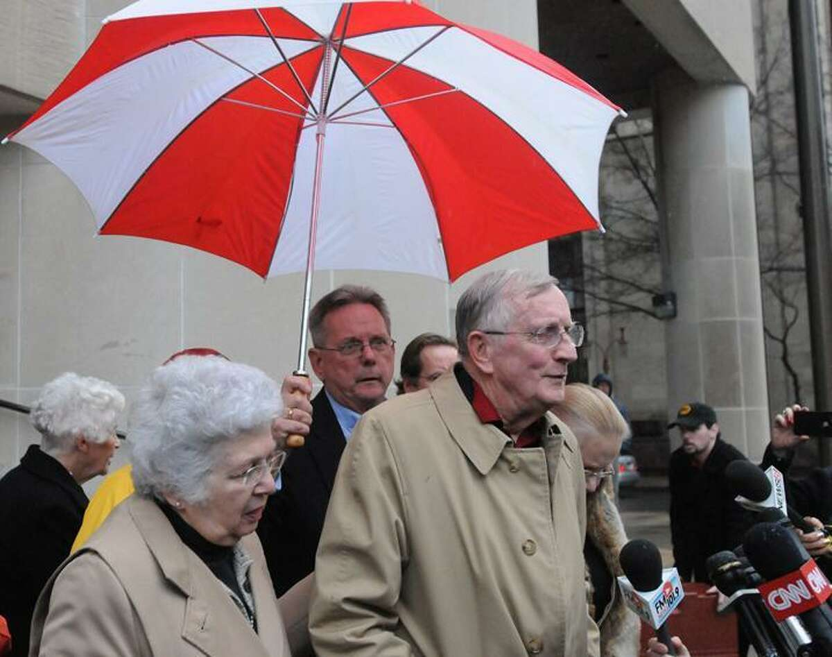 William Petit, Sr. leaves New Haven Superior Court after Komisarjevsky was given the death sentence by Judge Blue 1/27/12Photo by Peter Hvizdak / New Haven Register January 27, 2012 ph2448 # Connecticut