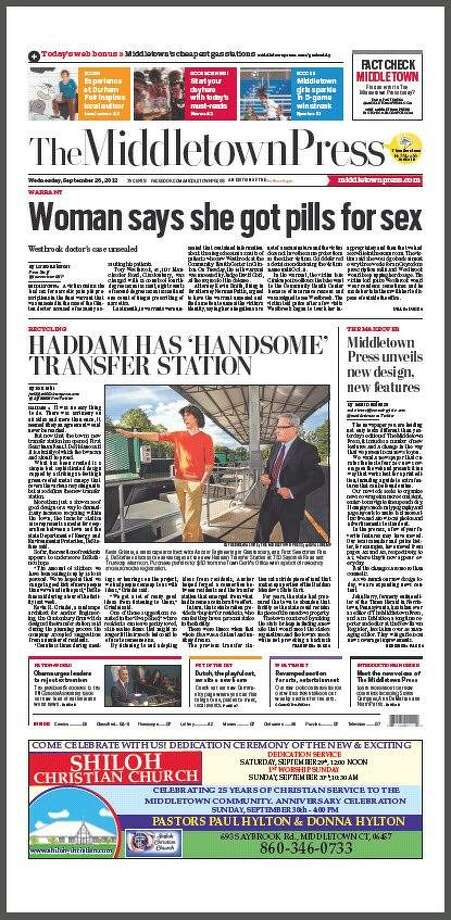 A redesigned Middletown Press debuted today.