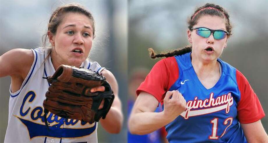 Expect H-K's Ashley Cook, left, and Coginchaug's Mari Handley to make some noise in today's Shoreline title game. / TheMiddletownPress