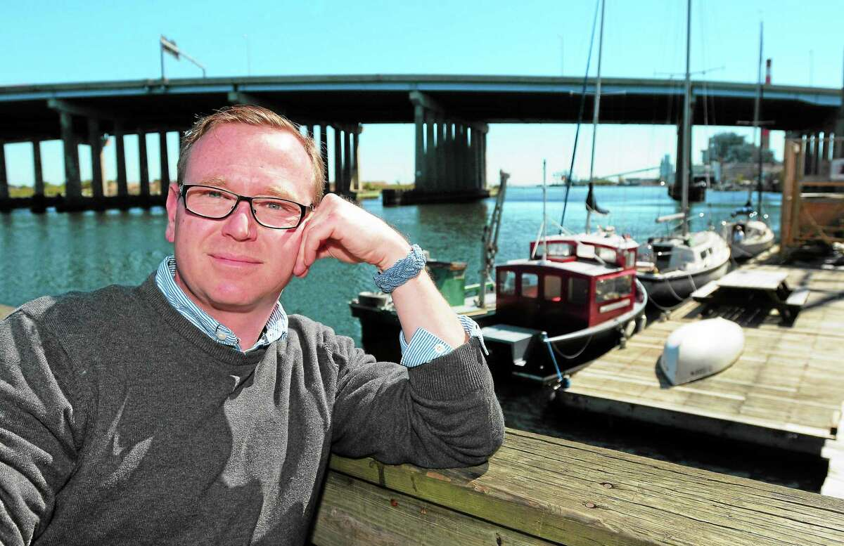 Chris German, founder of Connecticut Community Boating, at its dock near the train station in Bridgeport.
