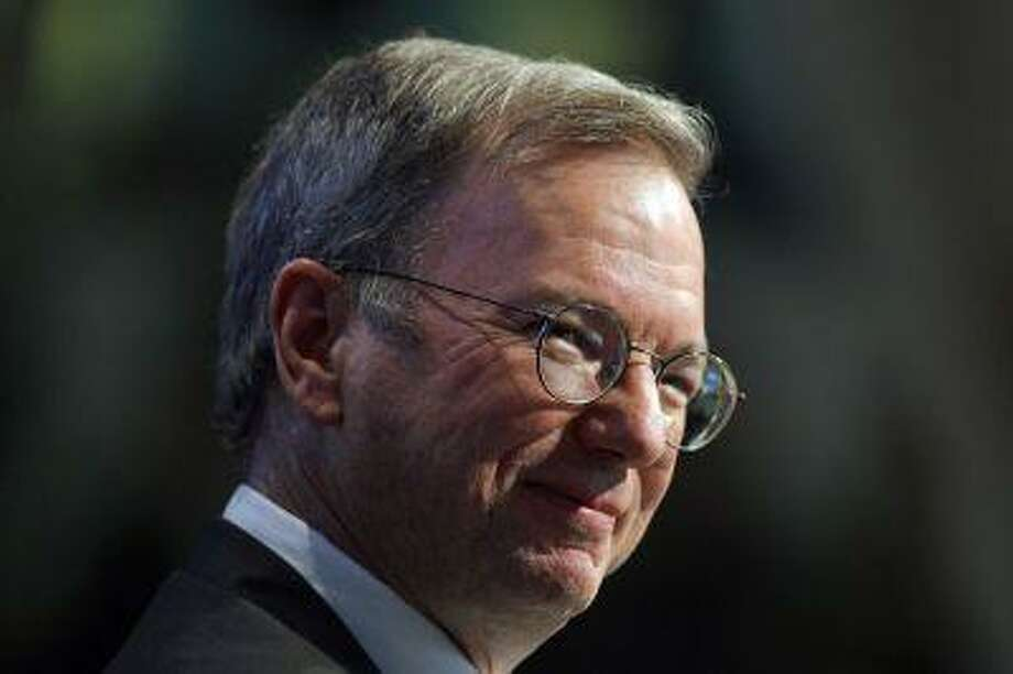 Google's then Chief Executive Eric Schmidt speaks during an event to celebrate the 25th anniversary of Massachusetts Institute of Technology's Media Lab in Cambridge, Massachusetts, in this October 15, 2010 file picture. Photo: REUTERS / X01873