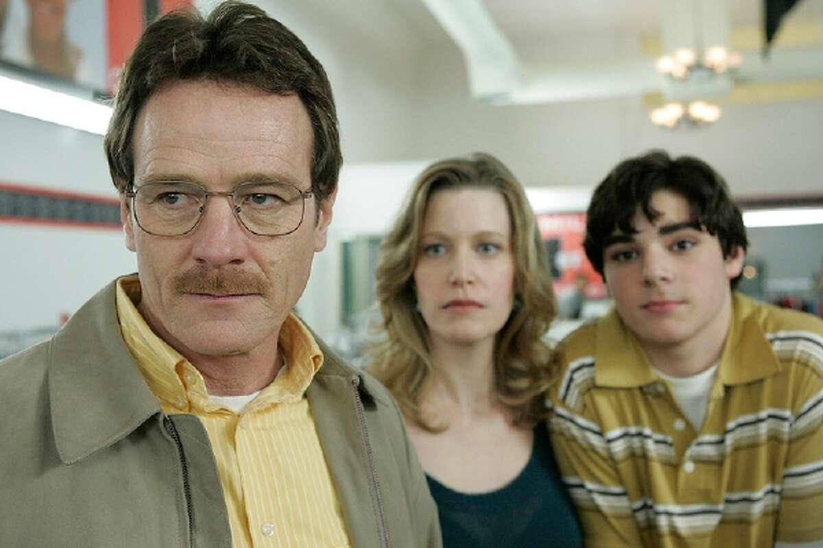 Walter White (Bryan Cranston), Skyler White (Anna Gunn) and Walt Jr. (RJ Mitte) in Season 1: Episode 1 of 'Breaking Bad.'
