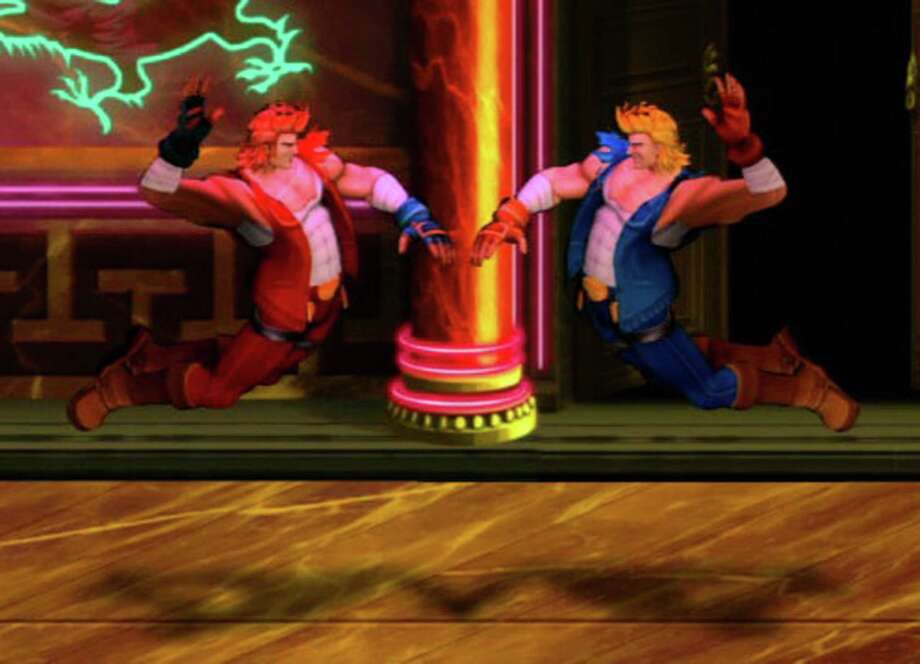 "Tough-guy brothers Billy and Jimmy return for an all-new adventure in ""Double Dragon Neon."""