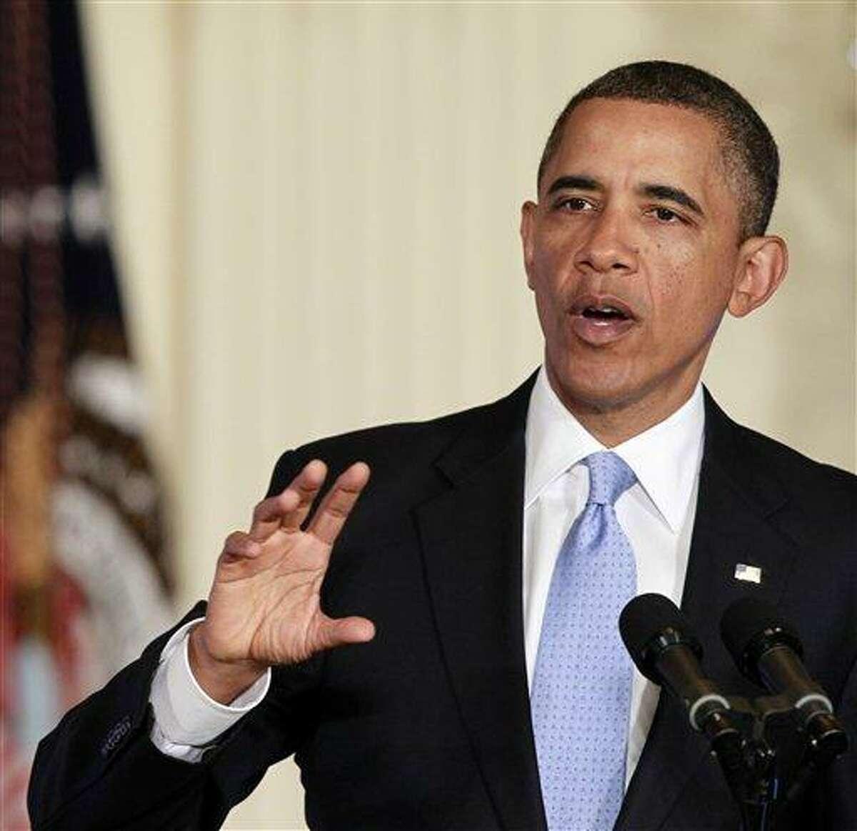 President Barack Obama speaks Jan. 13 in the East Room of the White House in Washington. Associated Press