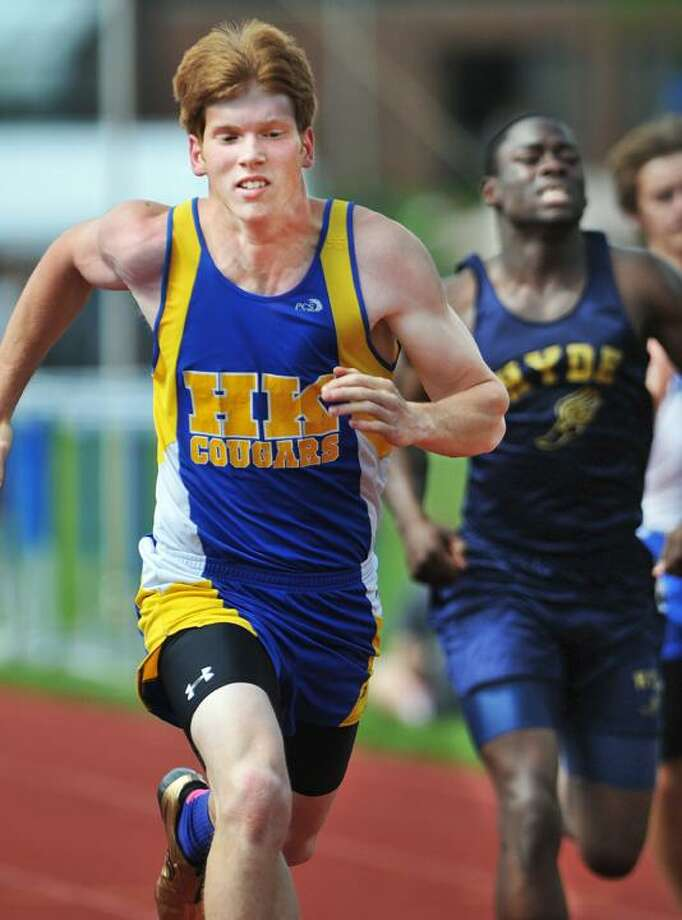 @CAvaloneMP  5.23.12  East Hampton senior, Jeff Pratt placed first in the shot put at the Shoreline Conference Track & Field Championship at Haddam-Killingworth High School in Higganum Wednesday afternoon. / TheMiddletownPress
