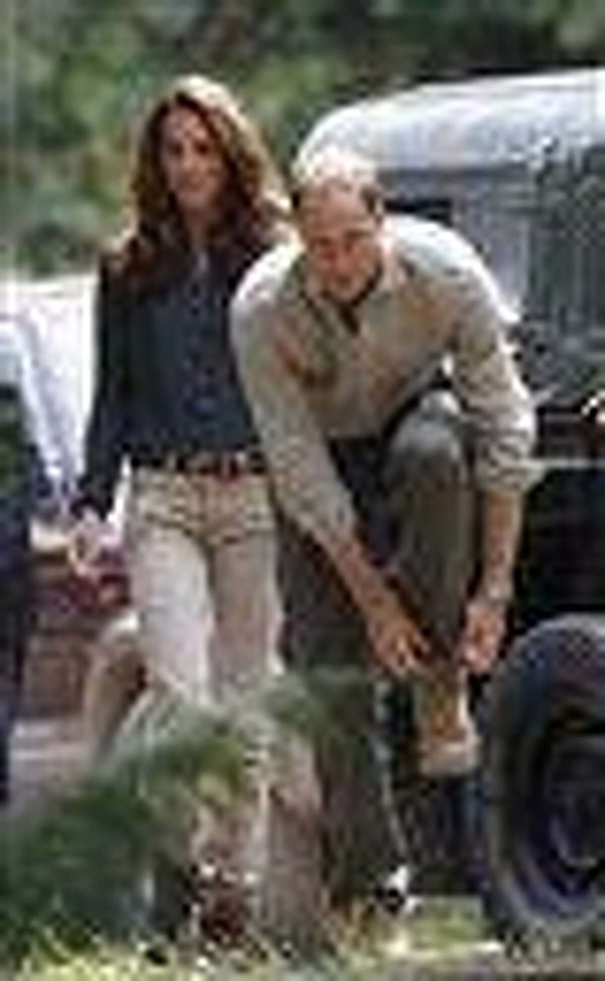 Prince William and his wife Kate, the Duke and Duchess of Cambridge arrive at Danum Valley Research Center in Danum Valley, Sabab, Malaysia, Saturday.