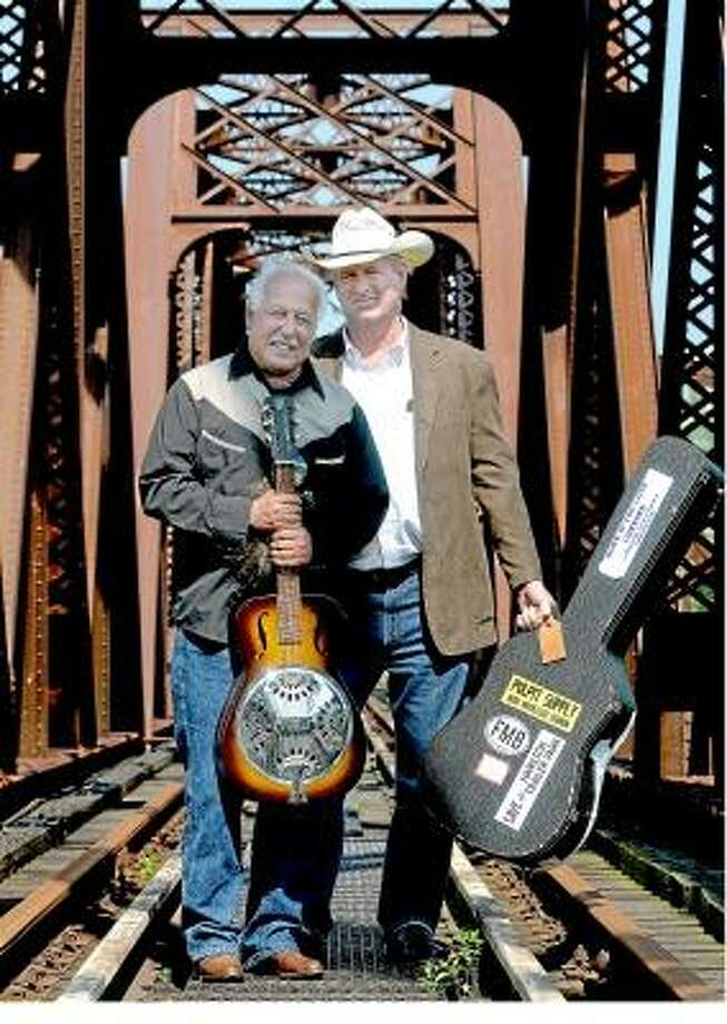 """Catherine Avalone/The Middletown Press Middletown residents Cartwheel's Frank Carta, left and Steven Crabtree, at right produced their first CD, """"Into the Valley."""" / TheMiddletownPress"""