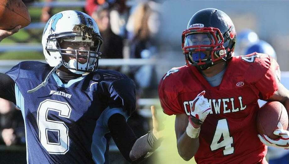 Catherine Avalone/Todd Kalif Middletown QB Dario Highsmith, left, and Cromwell RB Derrick Villard are both expected to play big roles in their team's offense this year. How will they do in Week 1? We'll soon find out.