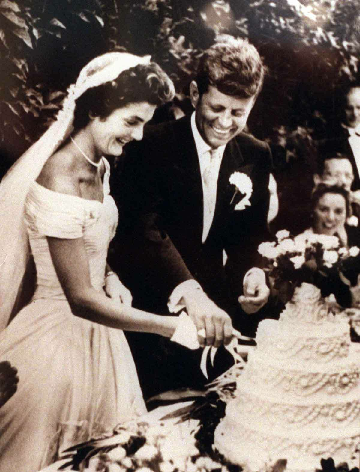 An archive photo of John F. Kennedy's wedding in the