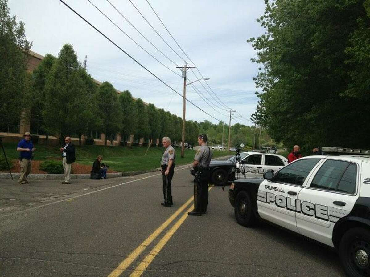 Police are on the scene on Quarry Road in Trumbull where a woman's body was found Friday. Susan Misur/Register