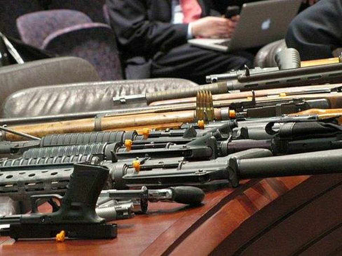 Connecticut State Police gun demonstration at the legislature Courtesy CTNEWSJUNKIE