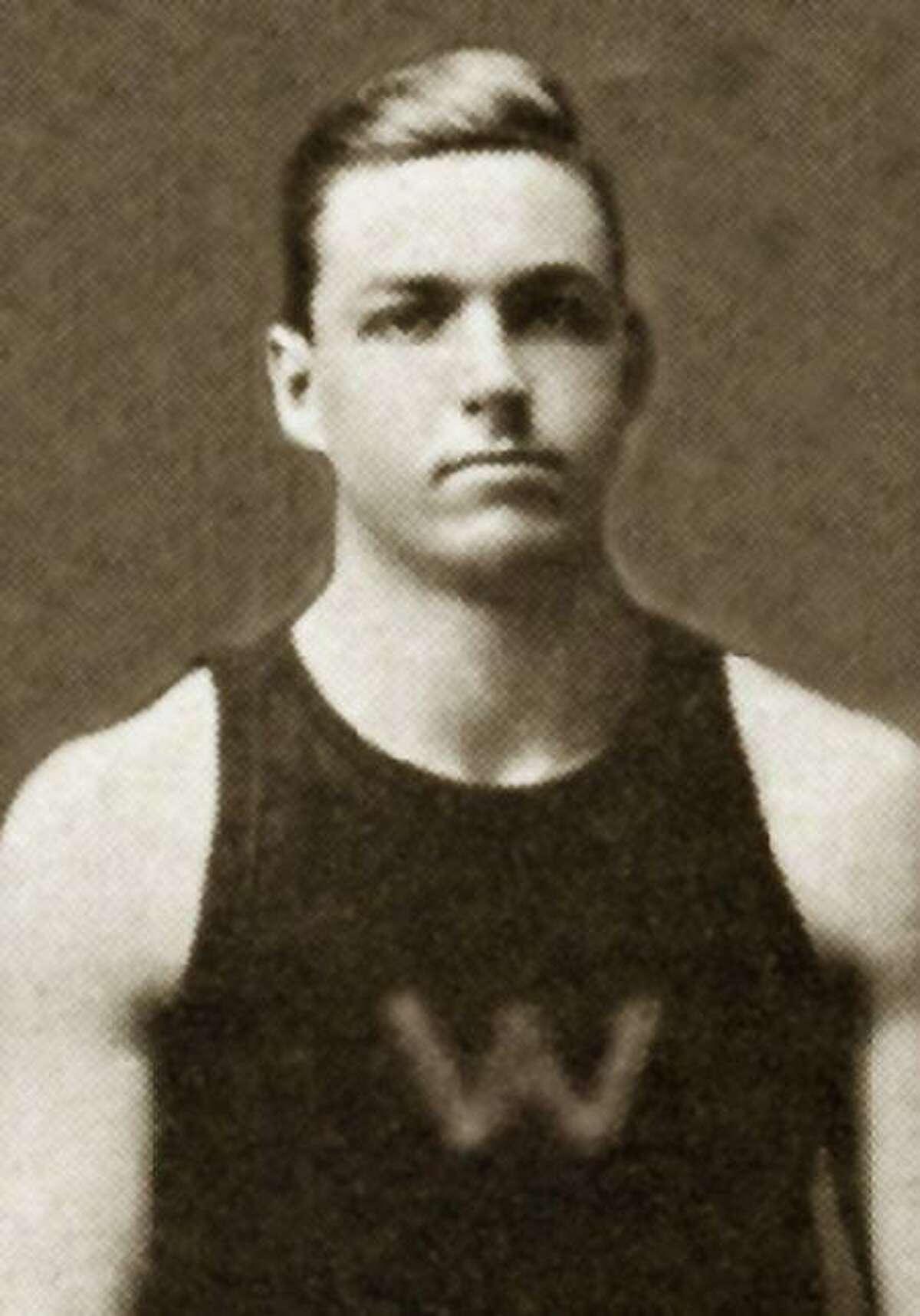 James Wendell hurdling at the 1912 Olympics in Stockholm, Sweden.