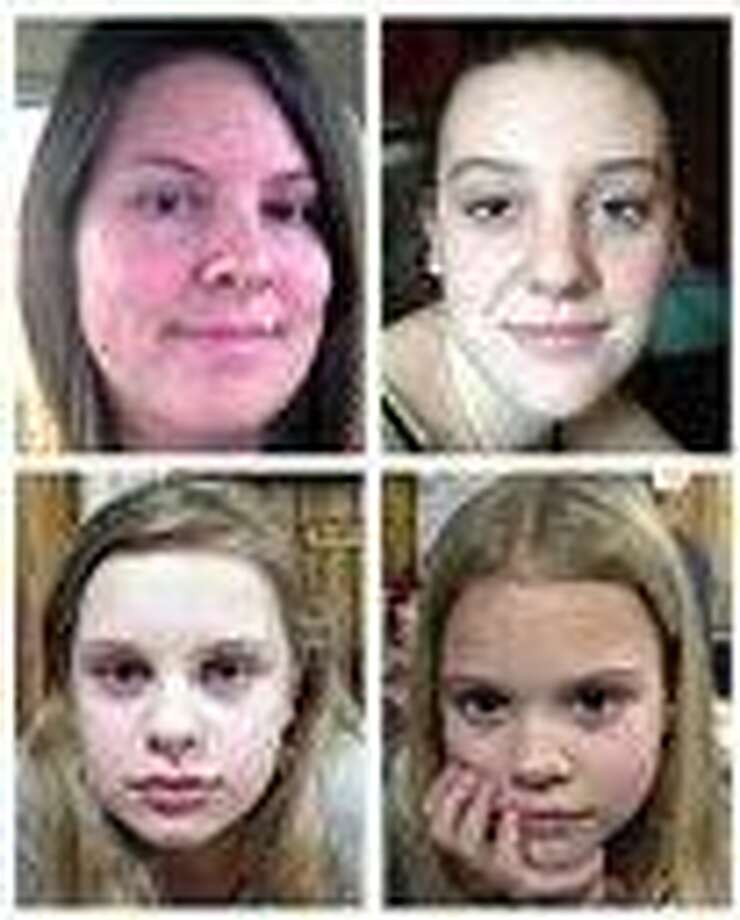 This file combo image of undated photos provided by the Mississippi Department of Public Safety shows, clockwise from top left, Jo Ann Bain and her daughters: Adrienne, 14; Kyliyah 8; and Alexandria, 12. Bain and her daughters disappeared April 27. The bodies of Jo Ann Bain and Adrienne Bain were found last week behind the mobile home in northern Mississippi where suspect Adam Mayes lived. The FBI said May 8 that authorities were hopeful the two young girls -- Alexandria and Kyliyah -- were still alive, but declined to say why.   Associated Press Photo: AP / Mississippi Department of Public Safety