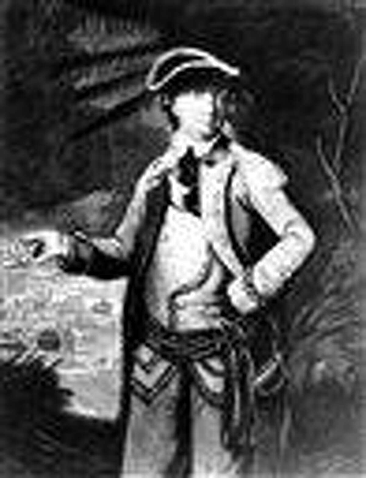 This undated sketch of Gen. Benedict Arnold by an unknown artist was provided by the Library of Congress. While most Americans know Arnold as the man who betrayed his nation by trying to turn over the American fortifications at West Point to the British, then joining the redcoats when the plot was uncovered, his heroic actions at the Revolutionary War's Battle of Saratoga are detailed in a new exhibit opening Thursday at Saratoga National Historical Park. Associated Press