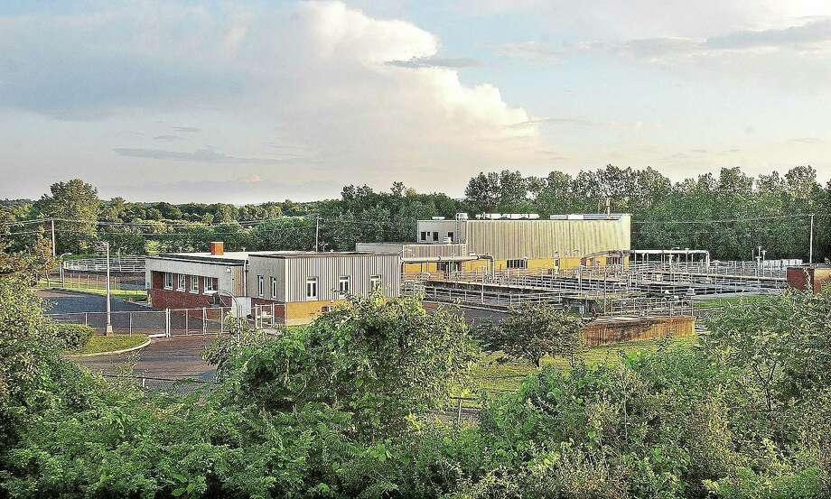 The Mattabassett District Sewage Treatment Plant in Cromwell. Photo: Catherine Avalone — The Middletown Press