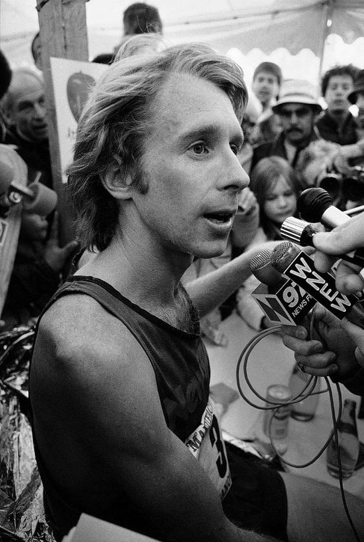 Bill Rodgers is the winner of the New York Marathon, Oct. 23, 1977. Rodgers, from Boston, Mass., won the marathon last year. (AP Photo/Carlos Rene Perez)