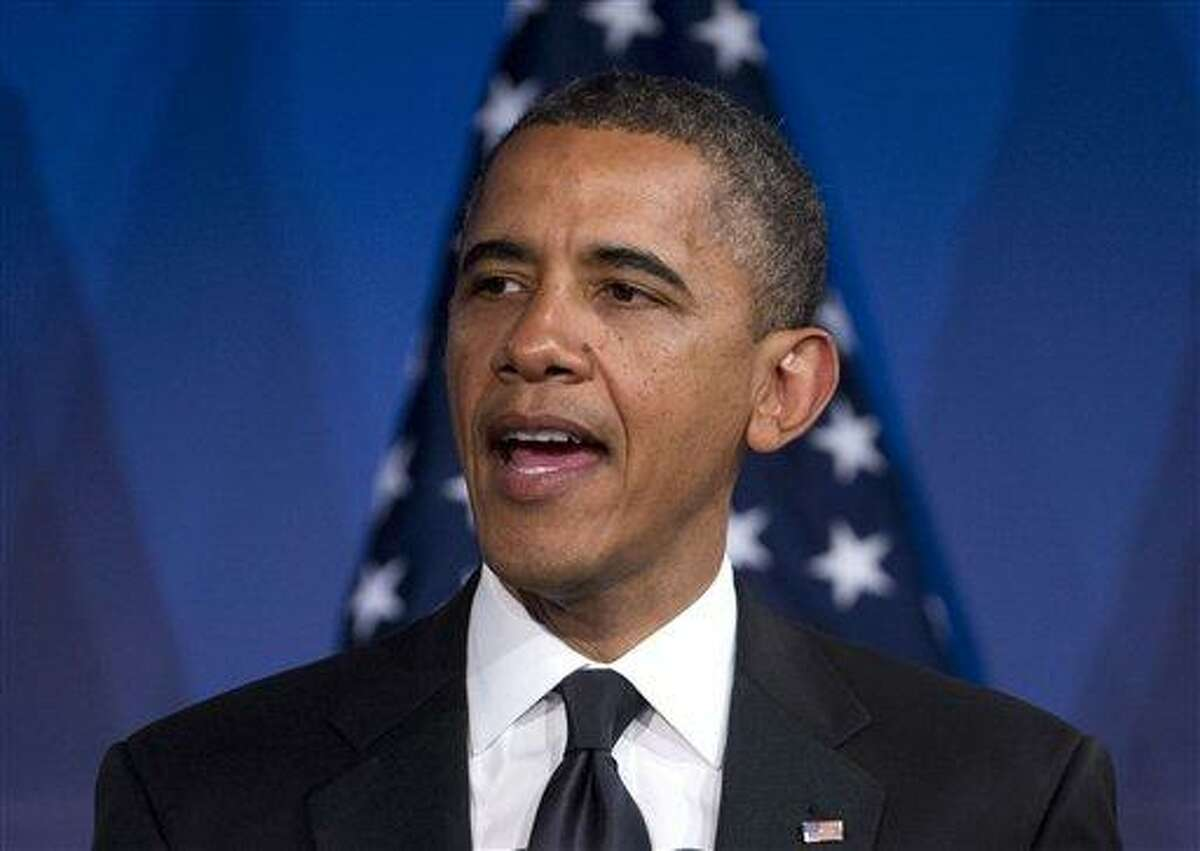 President Barack Obama speaks May 8 in Washington. Obama faced mounting pressure Wednesday to express support for same-sex marriage after a setback for gay-rights advocates in North Carolina. Associated Press