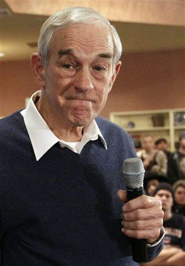 Republican presidential candidate, Rep. Ron Paul, R-Texas, pauses during a campaign event in Meredith, N.H., earlier this week. Associated Press Photo: AP / AP