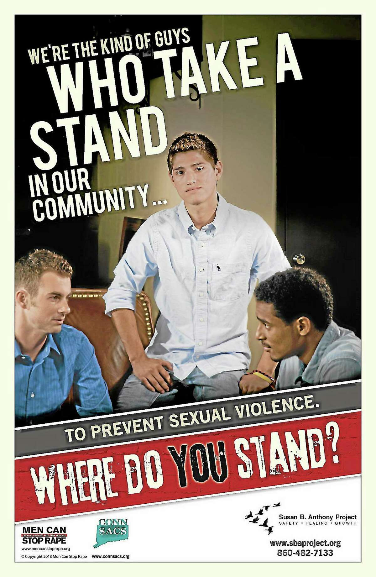Men Can Stop Rape and CONNSACS joint campaign to stop violence against women.