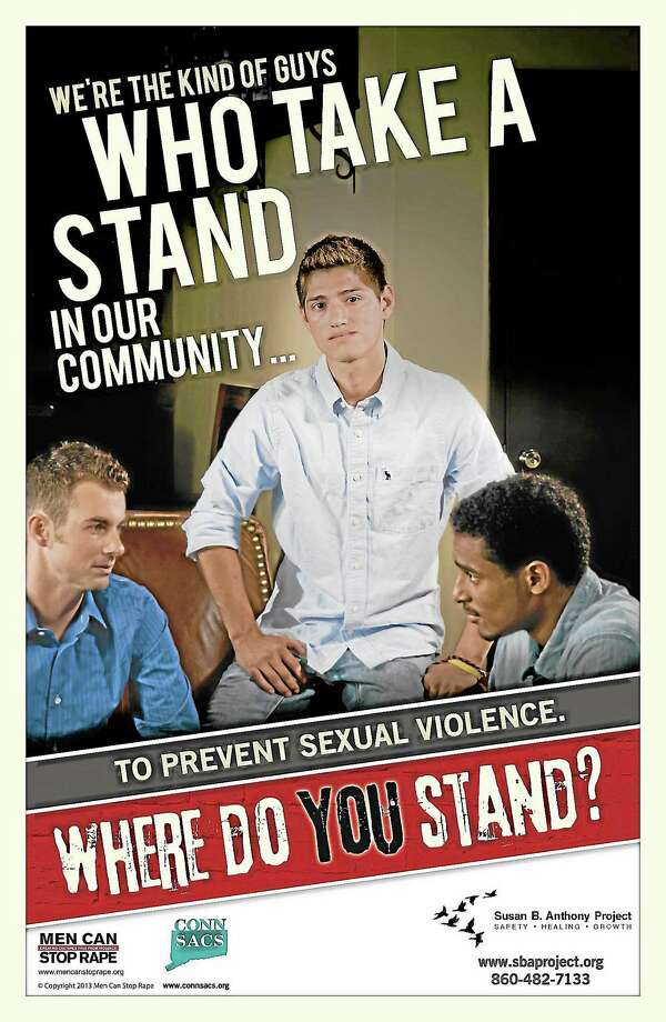 Men Can Stop Rape and CONNSACS joint campaign to stop violence against women. Photo: Journal Register Co.