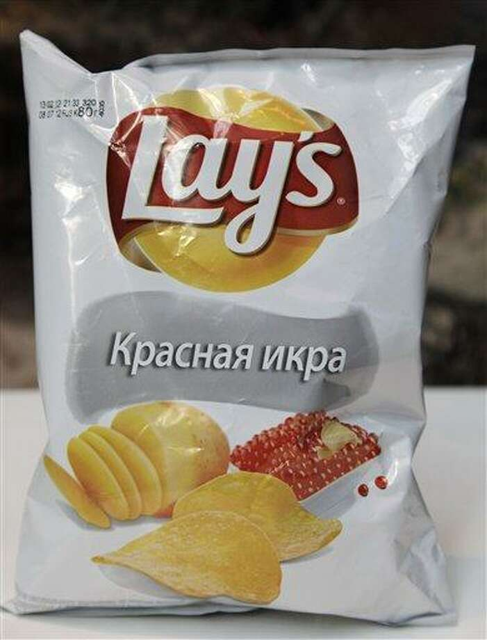 A package of Lays caviar potato chips in New York. While Americans might get squeamish at the thought of their favorite snacks being tweaked, what works in the U.S. doesn't work everywhere. Tastes can vary greatly in unexpected ways in different corners of the world. Associated Press Photo: AP / AP