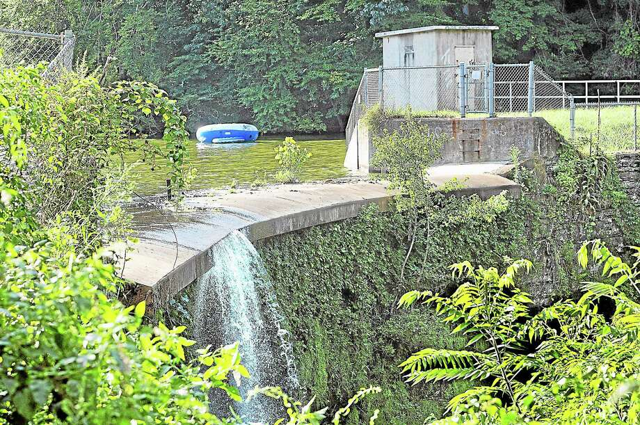 The Lake Beseck Dam in Middlefield. Photo: Catherine Avalone — The Middletown Press  / TheMiddletownPress