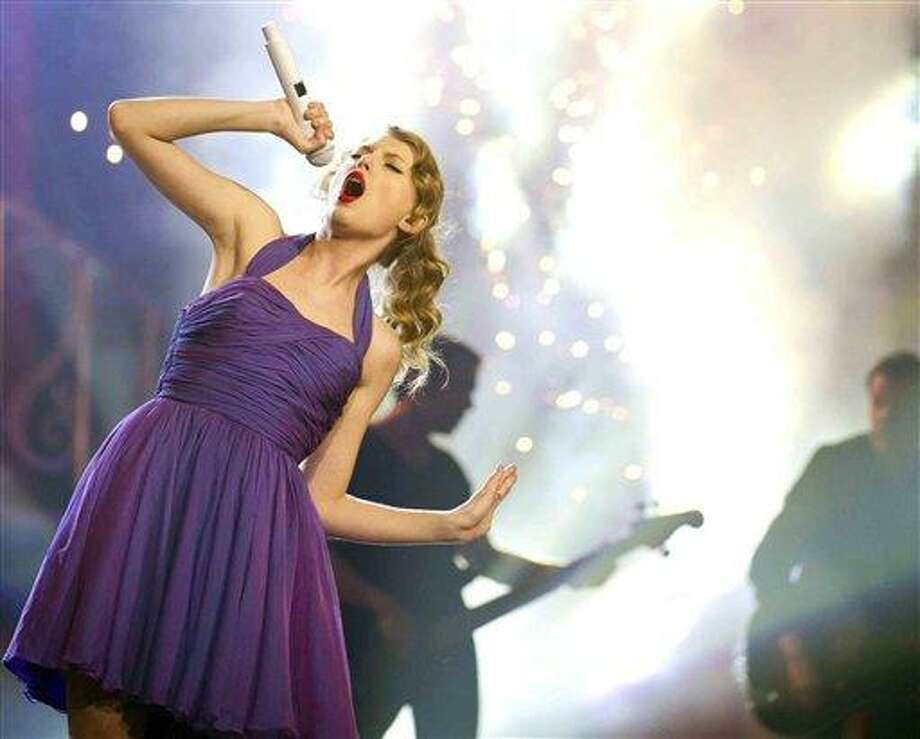 Singer Taylor Swift performs at Madison Square Garden in New York in 2011. Associated Press file photo Photo: AP / FR170266 AP