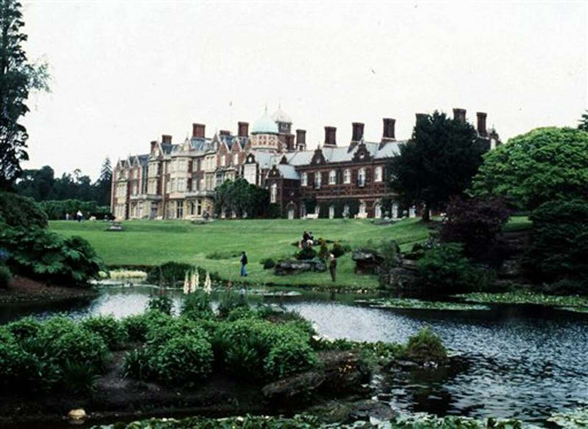 This is a 1978 file photo of Britain's Queen Elizabeth's Sandringham House in eastern England. British police are treating the discovery of a body on the queen's Sandringham estate as murder. A woman's body was found on the vast estate in eastern England on Jan. 1, 2012, and Detective Chief Inspector Jes Fry said authorities are examining missing person reports and unsolved cases around the country to see if there are any links. Associated Press