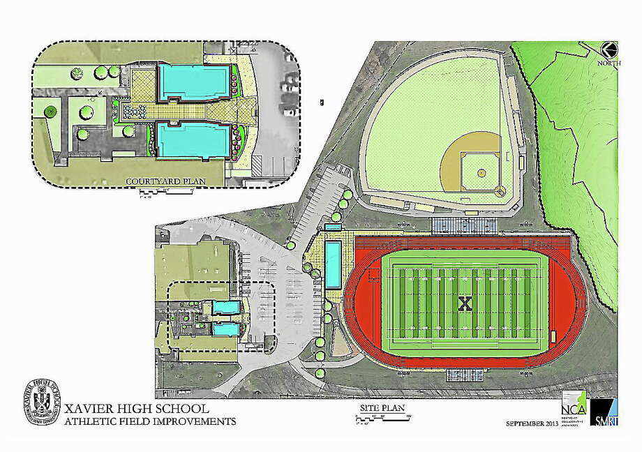 Submitted Image. Site plans for the new Xavier athletic fields in Middletown. Photo: Journal Register Co.