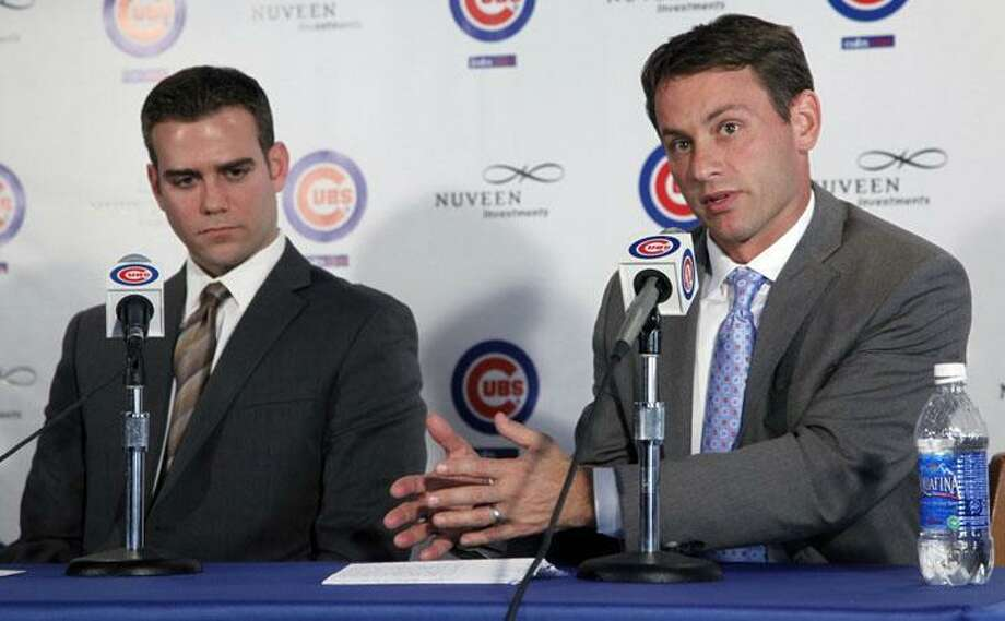 Former Wesleyan pitcher Jed Hoyer on the mound. Hoyer is now the GM of the Chicago Cubs. Photo: ASSOCIATED PRESS / AP2011
