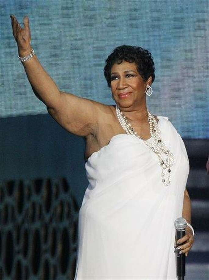 "Singer Aretha Franklin appears at a taping of ""Surprise Oprah! A Farewell Spectacular,"" in Chicago in May 2011. Franklin says the proposal from her longtime friend, Willie Wilkerson was not entirely unexpected. Associated Press Photo: AP / AP"