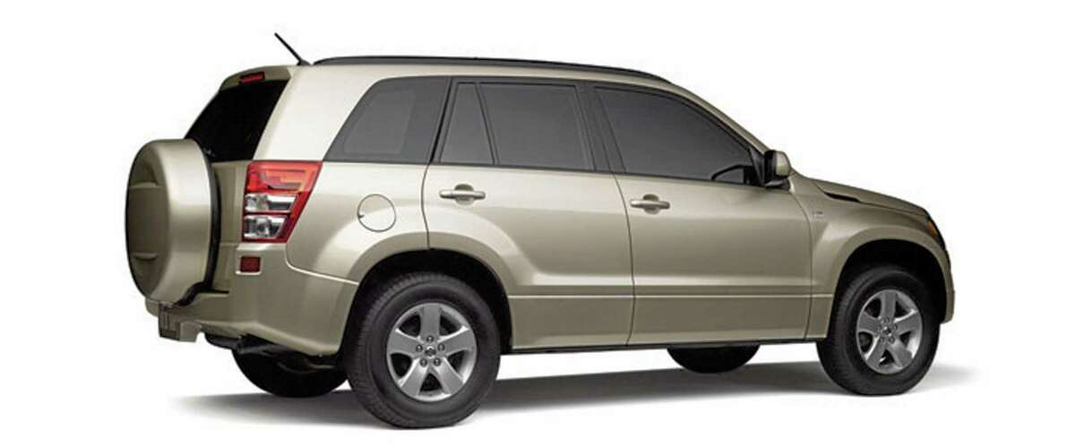 This undated image made available by Suzuki shows the 2008 Suzuki Grand Vitara. Suzuki is recalling 193,936 cars and SUVs because of a defective air bag sensor in the front passenger seat. Grand Vitara SUVs from the 2006 through 2011 model years and SX4 small cars from the 2007 through 2011 model years are involved. Suzuki will notify owners starting in October 2013. Dealers will replace mats for free. (AP Photo/Suzuki)