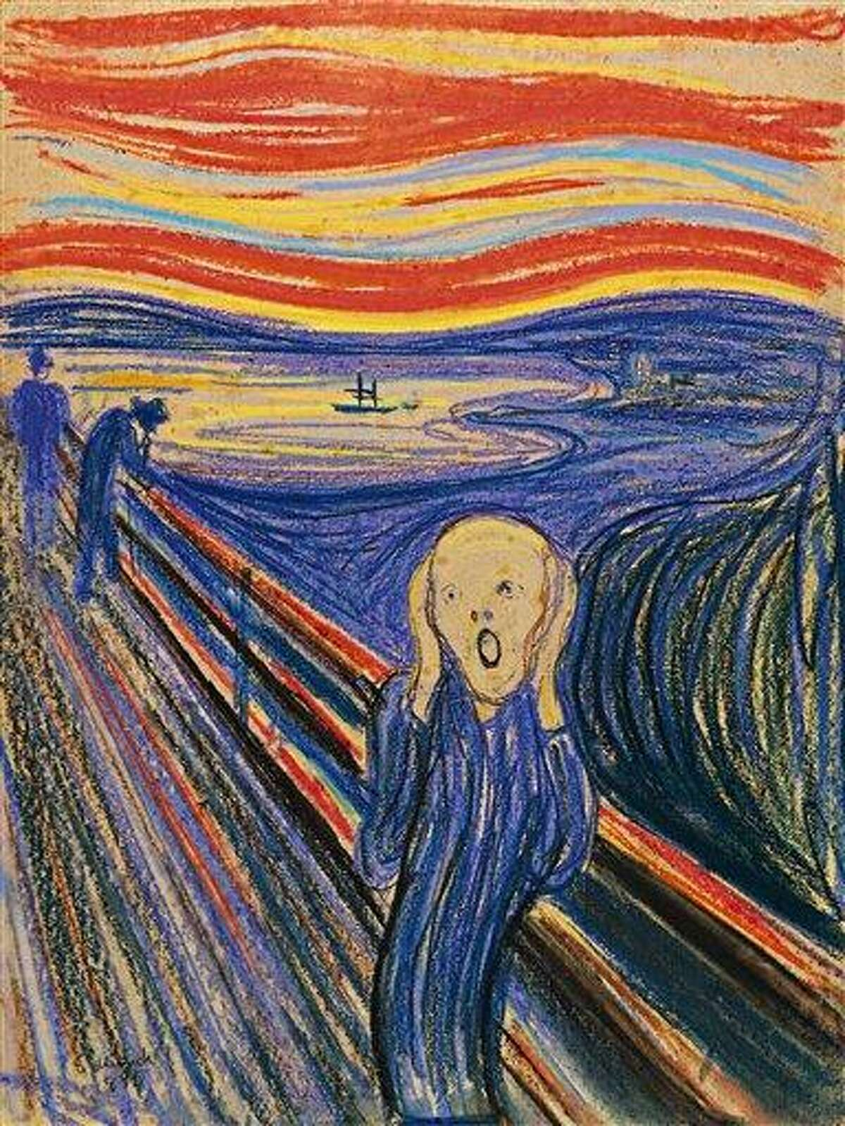 """This undated photo provided by Sotheby's shows """"The Scream"""" by Norwegian painter Edvard Munch. The work, which dates from 1895 and is one of four versions of the composition, will lead Sotheby's Impressionist & Modern Art Evening Sale May 2 in New York. Associated Press"""