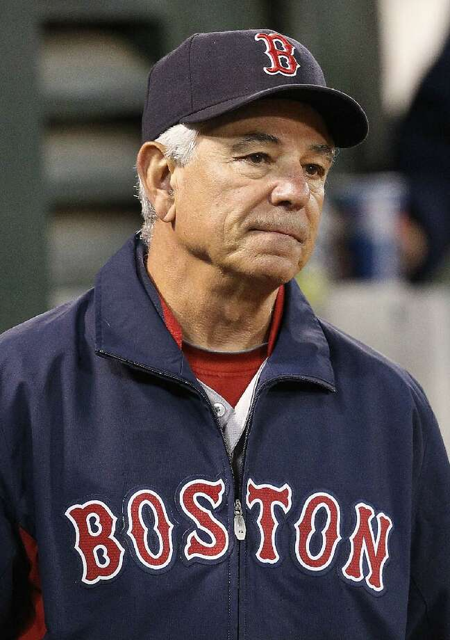ASSOCIATED PRESS Boston Red Sox manager Bobby Valentine watches during the seventh inning of Saturday night's game against the Oakland Athletics in Oakland, Calif. Oakland won 7-1.