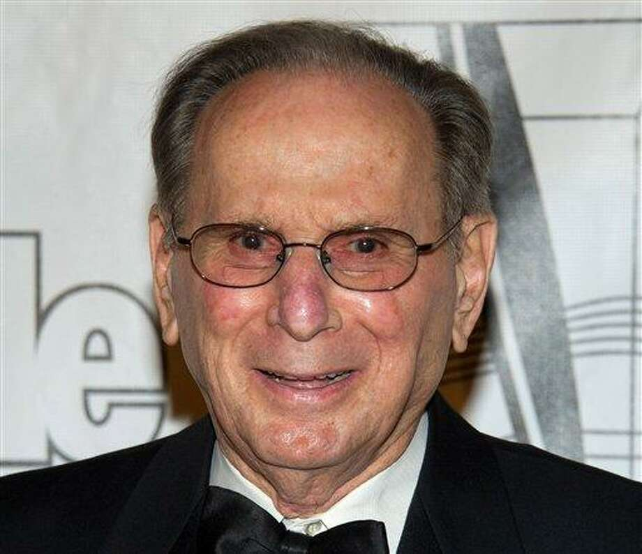 FILE - In this June 16, 2011 file photo, Hal David arrives at the 42nd Annual Songwriters Hall of Fame Awards in New York. David, who along with partner Burt Bacharach penned dozens of top 40 hits for a variety of recording artists in the 1960s and beyond, died Saturday Sept. 1, 2012 in Los Angeles.  (AP Photo/Charles Sykes, File) Photo: AP / FR170266 AP