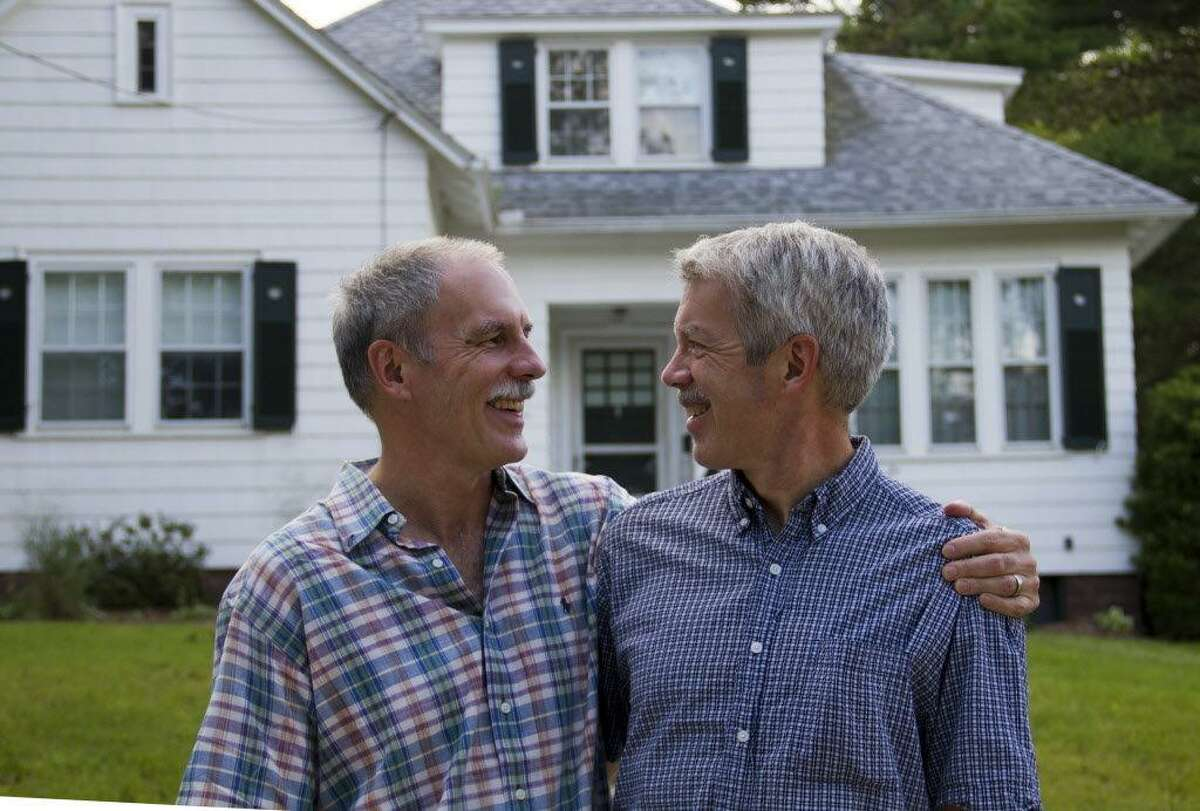 Photo by Kate Holmes The last time Martin, left and David Stabler stood in front of their childhood house, they were teenagers and couldn't wait to leave home.