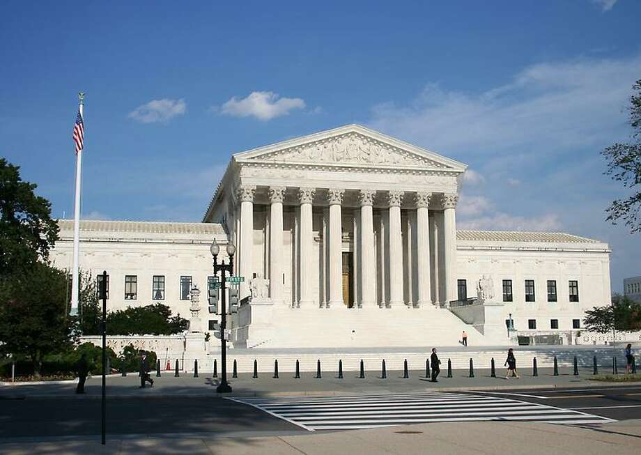 The present U.S. Supreme Court building seen from across 1st Street SE.