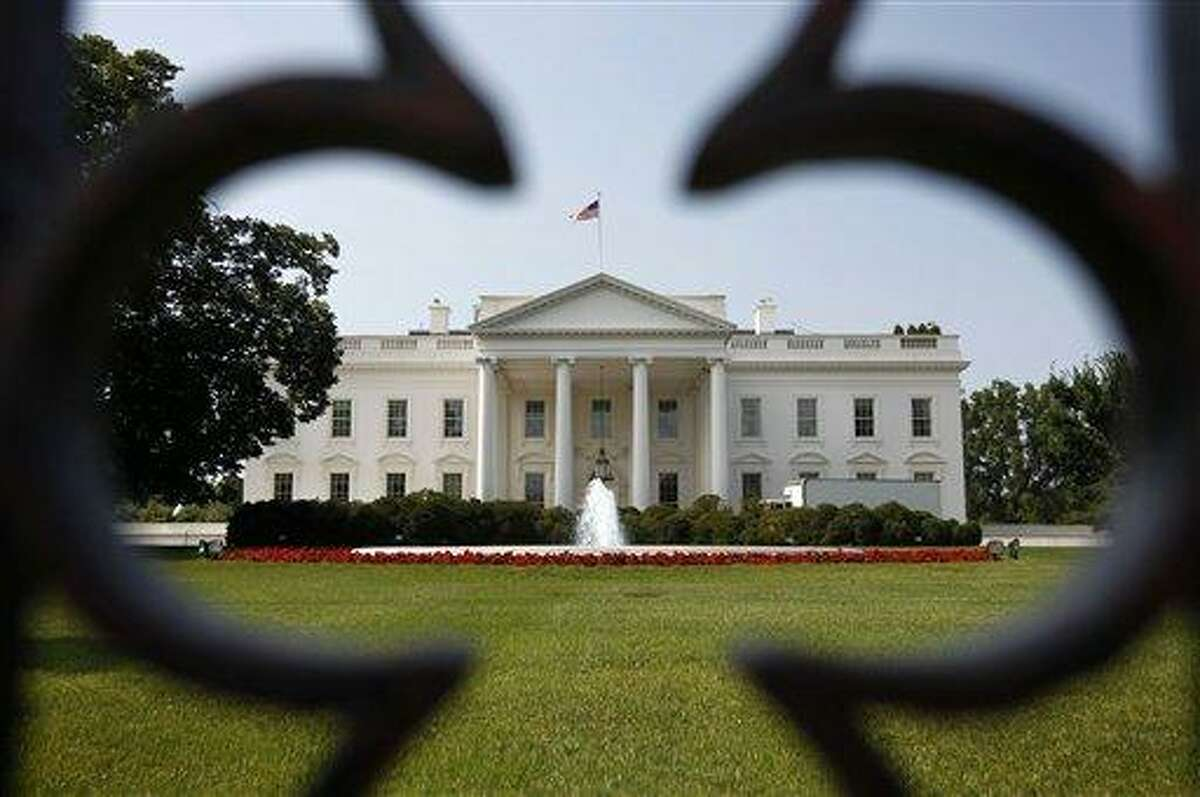 The White House is seen Thursday in Washington after the Supreme Court ruled on President Barack Obama's health care legislation. Associated Press