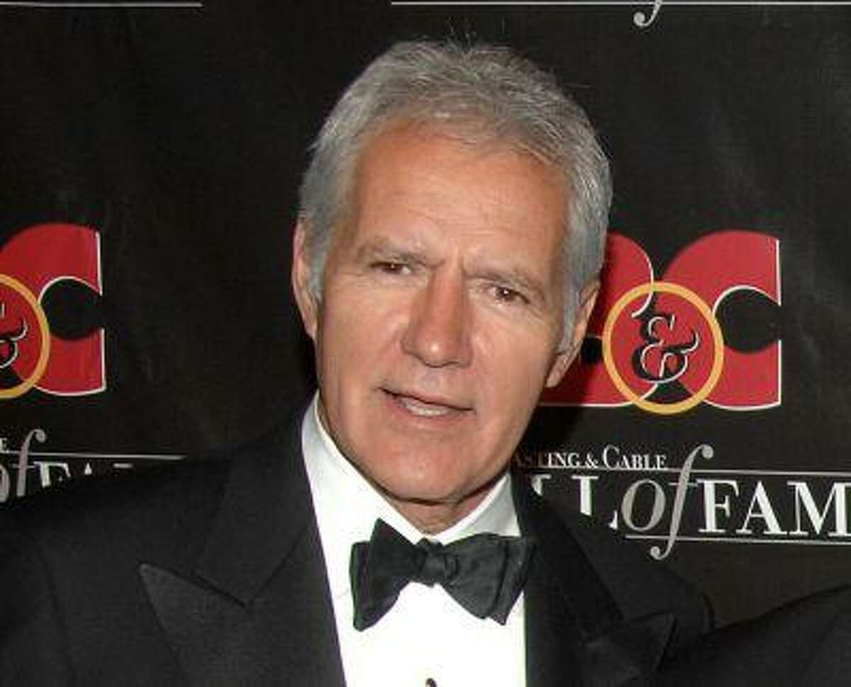 Game show host Alex Trebek at the 17th annual Broacasting and Cable Hall of Fame awards dinner in New York in 2007. (AP Photo/Peter Kramer, file)