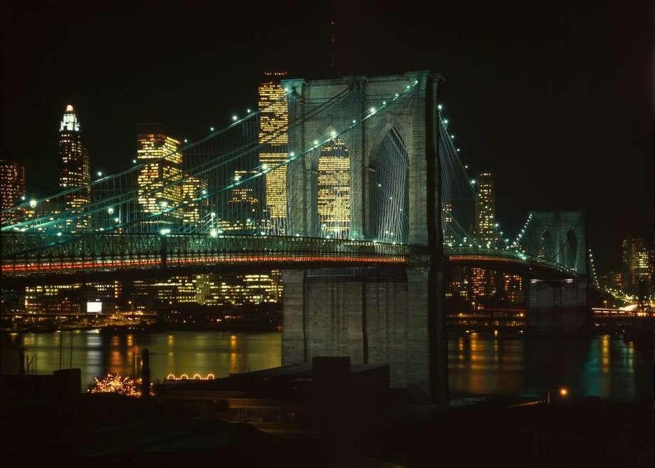 Brooklyn Bridge, Spanning East River between Brooklyn & Manhattan, New York City, New York County, NY