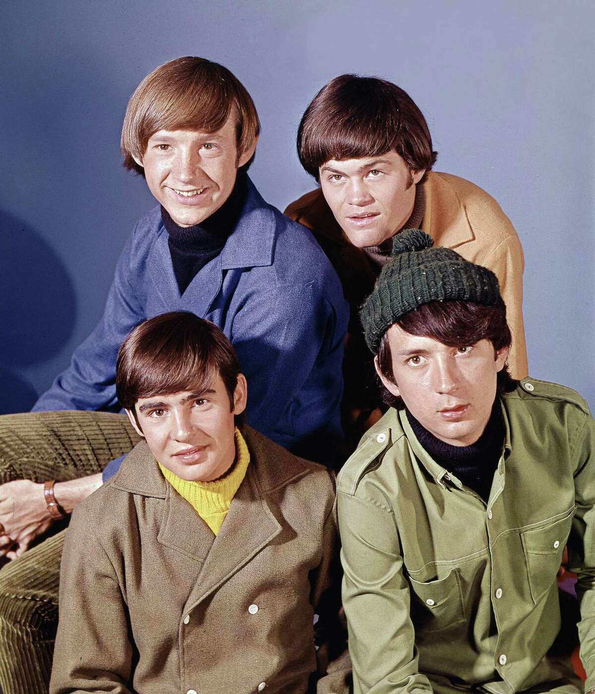 """Pop musical group, """"The Monkees"""" are shown in this Oct. 20, 1966 photo. At top are: Peter Tork, right, and Mickey Dolenz. At bottom are: David Jones, left, and Mike Nesmith. Associated Press"""
