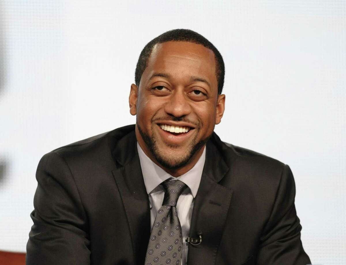Actor Jaleel White speaks during the Jan. 7 panel discussion for his upcoming Syfy channel game show