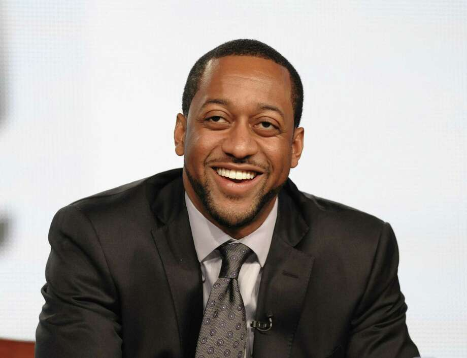 """Actor Jaleel White speaks during the Jan. 7 panel discussion for his upcoming Syfy channel game show """"Total Blackout"""" at the Television Critics Association Winter Press Tour for NBC Universal in Pasadena , Calif. White will be among the 12 celebrity contestants on the next season of the ABC dancing competition, premiering March 19. Associated Press Photo: ASSOCIATED PRESS / AP2012"""