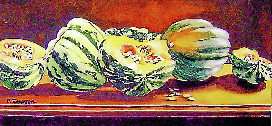"Submitted photo courtesy of the artist""Squash"" by Carolyn Emerson of South Windsor is just one of the works that will be featured in a new show at Maple and Main. Photo: Journal Register Co."